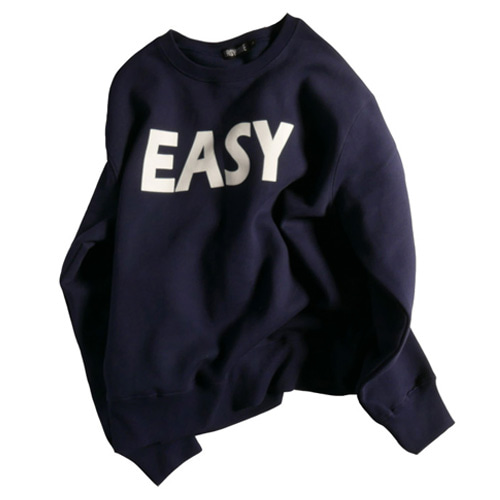 (기모)EASY NAP SWEAT SHIRT NAVY