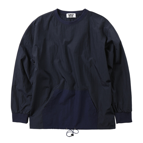 waterproof woven sweatshirt (navy)