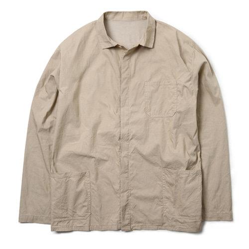 easy shirt jacket (beige)