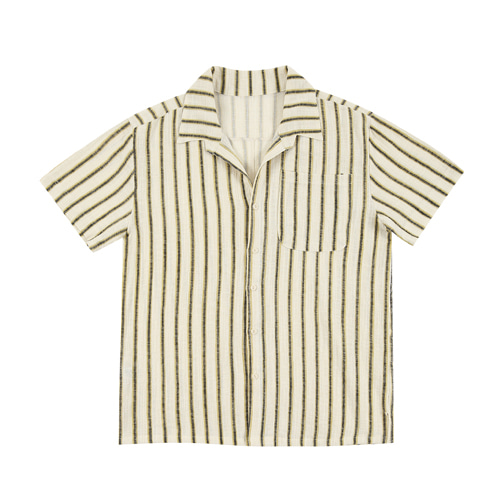 (2차 리오더 )STRIPE SHORT-SLEEVE SHIRT (YELLOW)